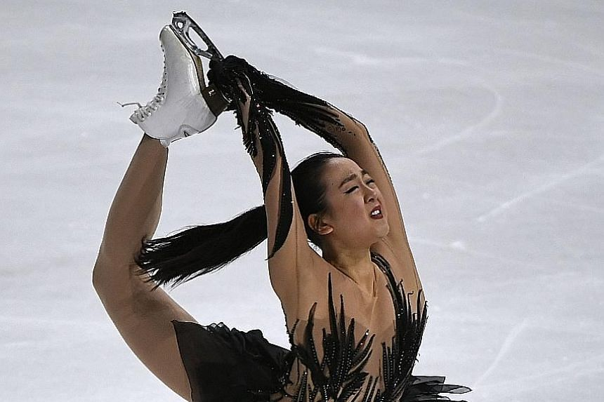 Mao Asada at the ISU Grand Prix of Figure Skating in Paris last November. She cited a lack of form after returning to competition and losing the will to compete as reasons for hanging up her skates for good.