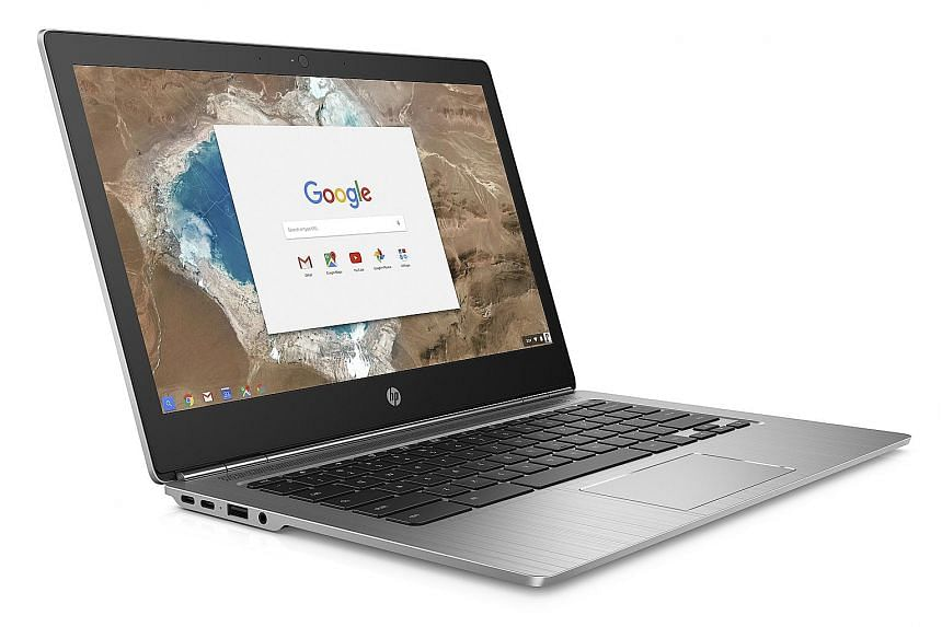 Viewing angles on the HP Chromebook 13 G1 are excellent with its in-plane switching screen, which is bright with lively colours.