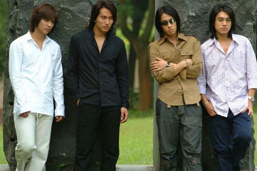 (From left) Vic Chou, Jerry Yan, Van Ness Wu and Ken Chu.