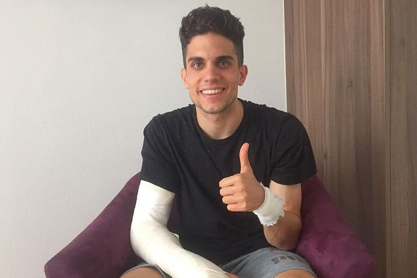 Bartra (above) was operated on for a broken wrist and shrapnel in his arm.