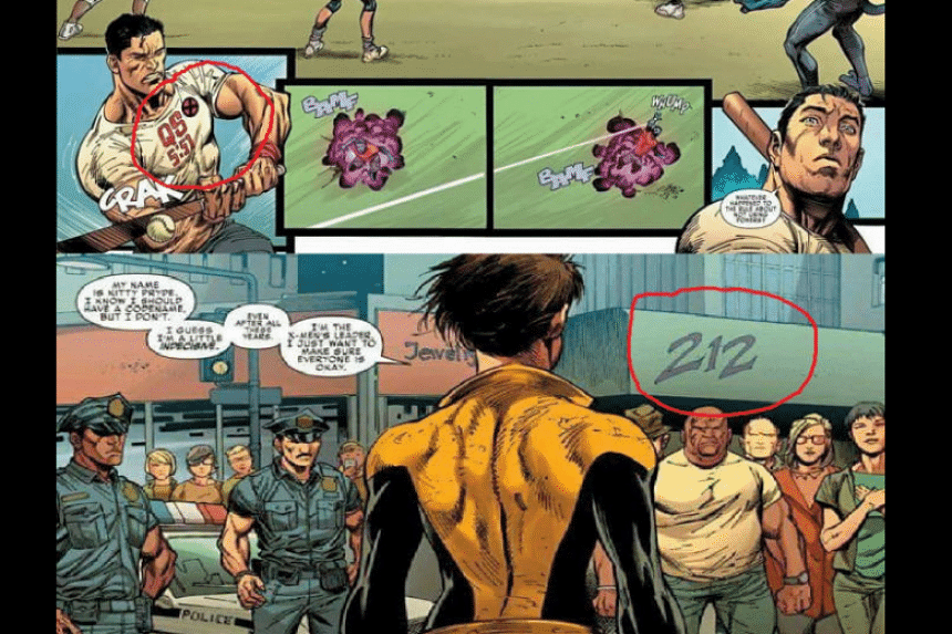 Numbers with references to a Quran verse and links to a rally asking for the arrest of a Christian politician in Jakarta were snuck into artwork for the Marvel X-Men comic.
