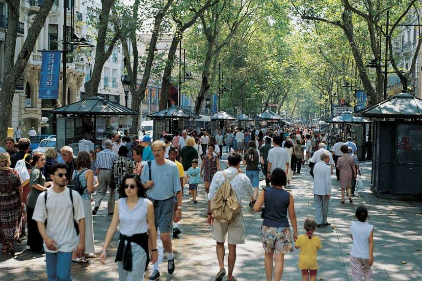 La Rambla, a 1.2km tree-lined pedestrian walkway, is said to be the most iconic street in Barcelona, Spain.  In the future, Orchard Road could follow in its footsteps and become fully pedestrianised.