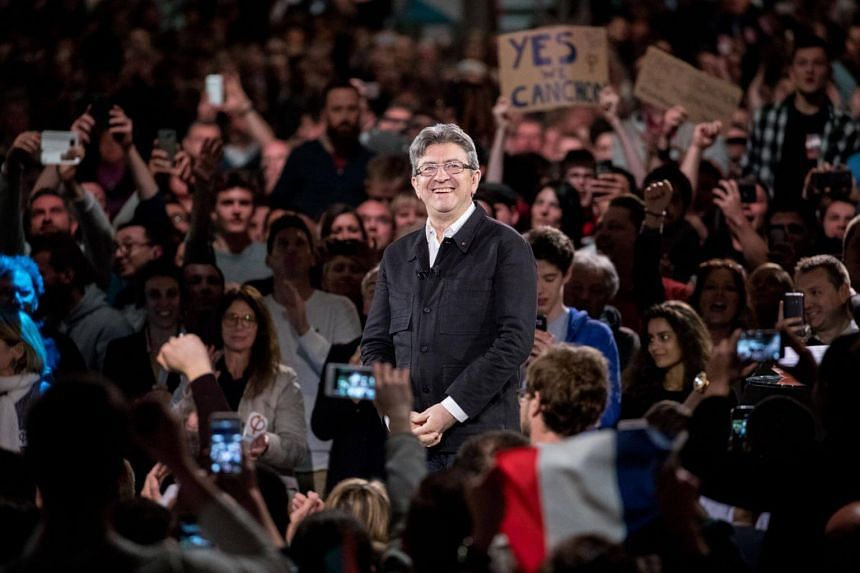 Far-left veteran Jean-Luc Melenchon has surged in the polls after strong performances in two candidates' debates.