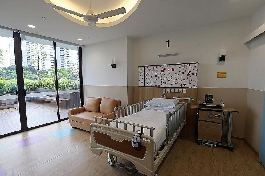 Assisi Hospice's paediatric ward has well-decorated spaces created for patients and their families, including a playroom, five single-bed rooms, as well as space for family members to stay overnight. Children under the age of 21 with life-limiting il