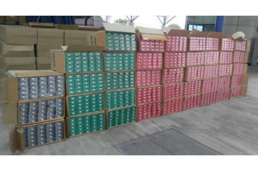 A total of 10, 000 cartons of contraband cigarettes were seized.