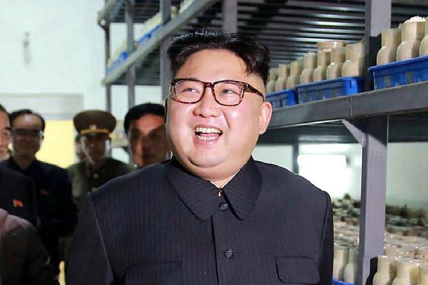 An undated photo released by the North Korea's Korean Central News Agency on April 8, 2017, of Kim Jong Un in Pyongyang.
