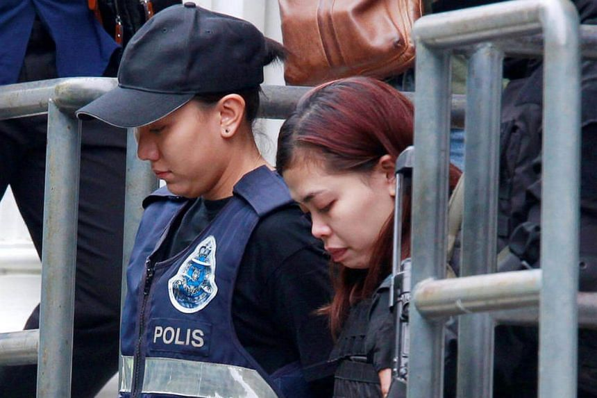 Indonesian Siti Aishah leaving a Sepang court after she was charged with the murder of North Korea Kim Jong Nam, in Malaysia on March 1, 2017.