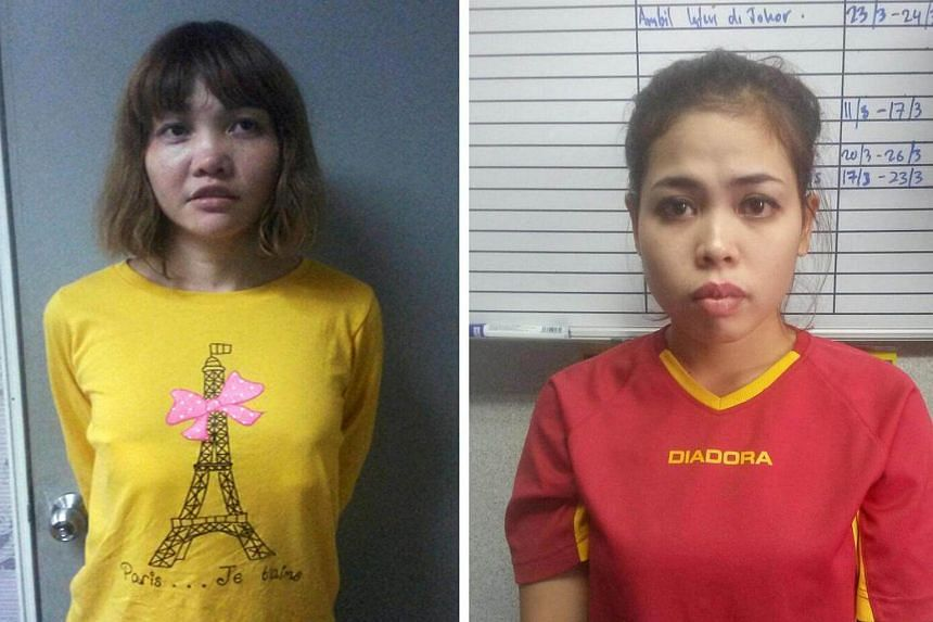 Vietnamese Doan Thi Huong (left) and Indonesian Siti Aishah are seen in undated handouts released by the Royal Malaysia Police on Feb 19, 2017.