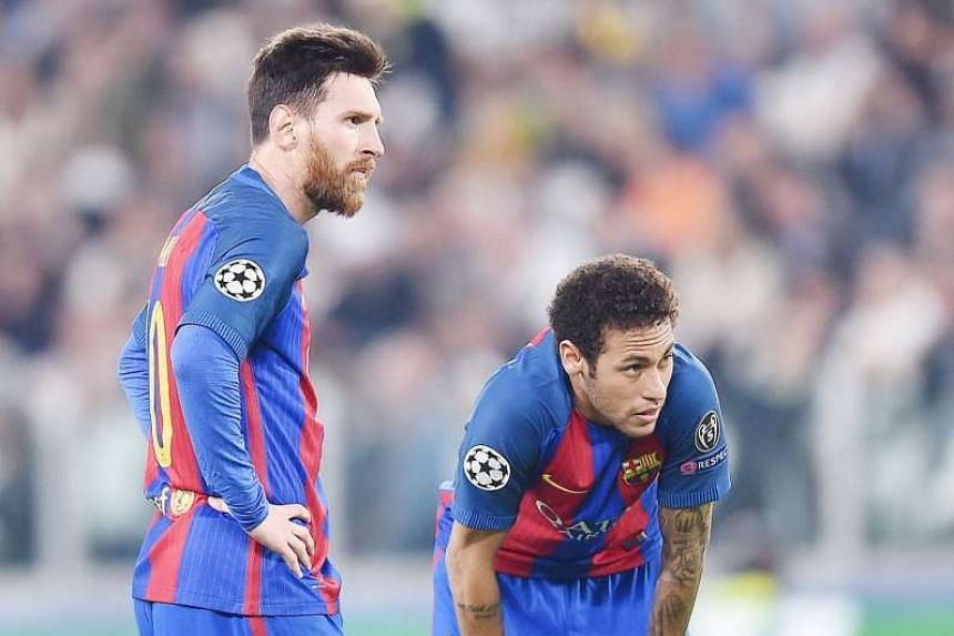 The body language of Lionel Messi (left) and Neymar speaks volumes in the 3-0 Champions League defeat by Juventus.