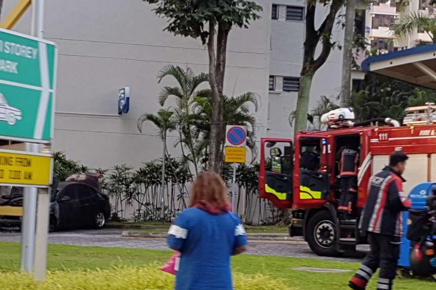 At about 6.45am on Friday (April 14), the Singapore Civil Defence Force was alerted to a vehicle fire at 93 Whampoa Drive and dispatched one fire bike, one red rhino and one fire engine to the scene.