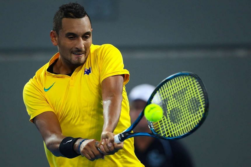 Kyrgios (above) joins Roger Federer and Kei Nishikori in missing the event.