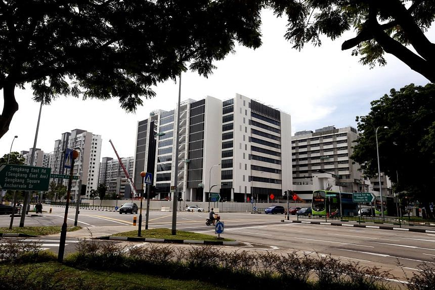 Slated to open next year, the Sengkang General Hospital building looks close to completion. The walls of the building in Anchorvale Street have already been painted, and signs have been put up to point future visitors to the main entrance. When it is