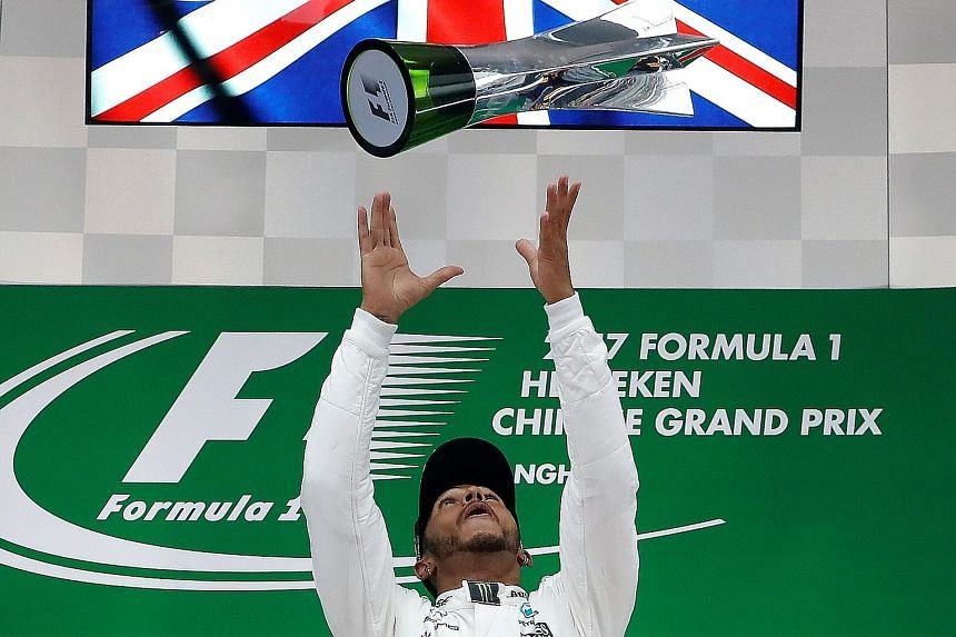 Mercedes driver Lewis Hamilton, last week's winner in Shanghai, shares the championship lead on 43 points with Ferrari's Sebastian Vettel but both men are enjoying the friendly rivalry ahead of this week's F1 stop in Bahrain.