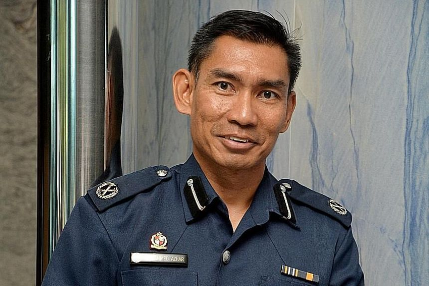 Mr Mohammed Azhar Yusof is Deputy Assistant Commissioner (NS) of Police, the highest rank attained by a Malay NSman in the police.