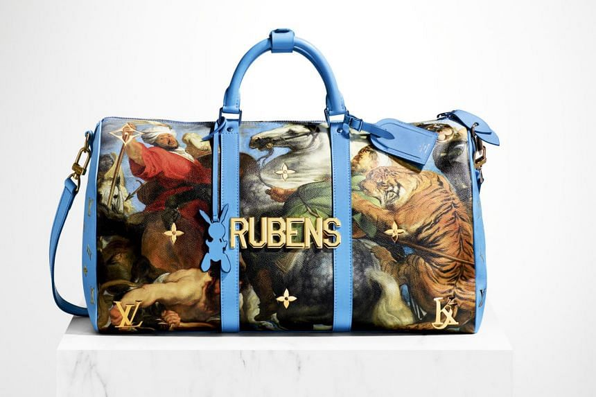 A handbag from Jeff Koons' Masters collection, a series which he collaborated on with Louis Vuitton.