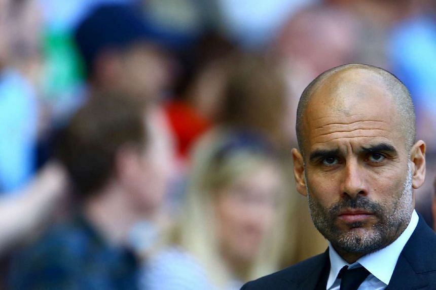 Guardiola (above) has been in the unusual position of watching the Champions League quarter-finals from a distance.