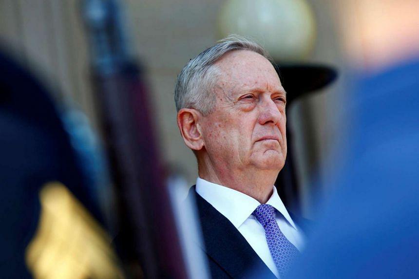 US Defence Secretary James Mattis is seen at the Pentagon, April 13, 2017.