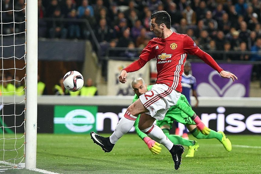 Anderlecht goalkeeper Martinez Ruben standing no chance as Henrikh Mkhitaryan gave United the lead in Brussels on Thursday. While the Red Devils' defence mostly held off the hosts, Leander Dendoncker headed the Belgians' late equaliser in their only