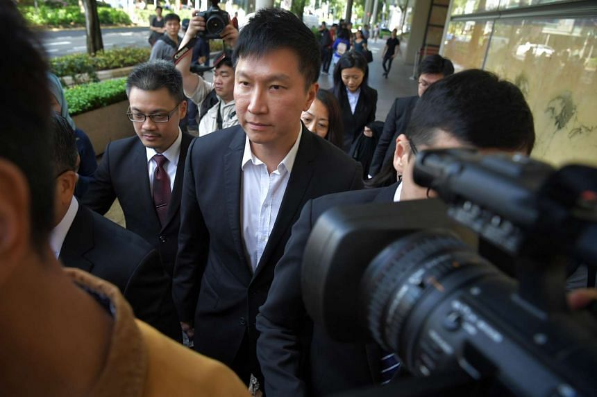 City Harvest Church founder and senior pastor Kong Hee leaving the Supreme Court on April 7, 2017.
