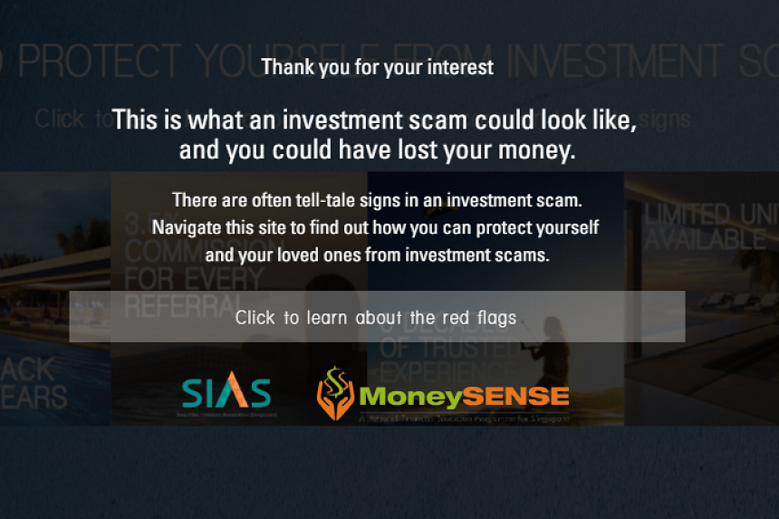 """This advisory pops up when a user attempts to """"invest"""" in the unbelievably good scheme."""