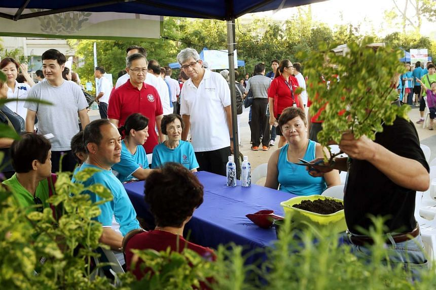 Minister for Communications and Information Yaacob Ibrahim (in white) was the guest of honour at the launch of Silver WaVe, which offers a suite of water sports and lifestyle activities catered to the silver generation.