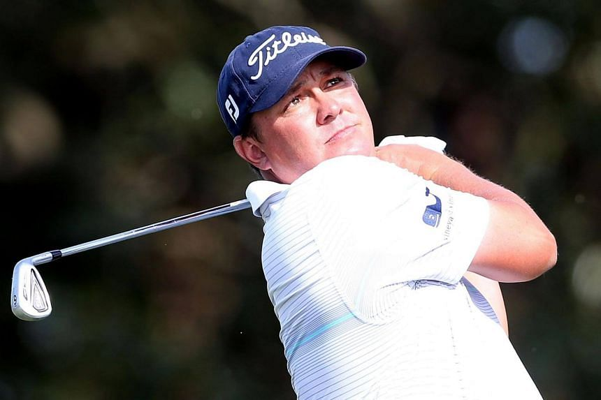 American Jason Dufner hits a shot on the 17th hole during the third round of the RBC Heritage tournament.