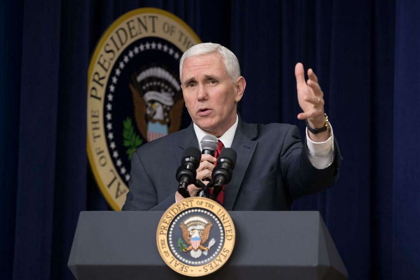 US Vice-President Mike Pence said the missile was a medium-range missile and failed four to five seconds into the launch.