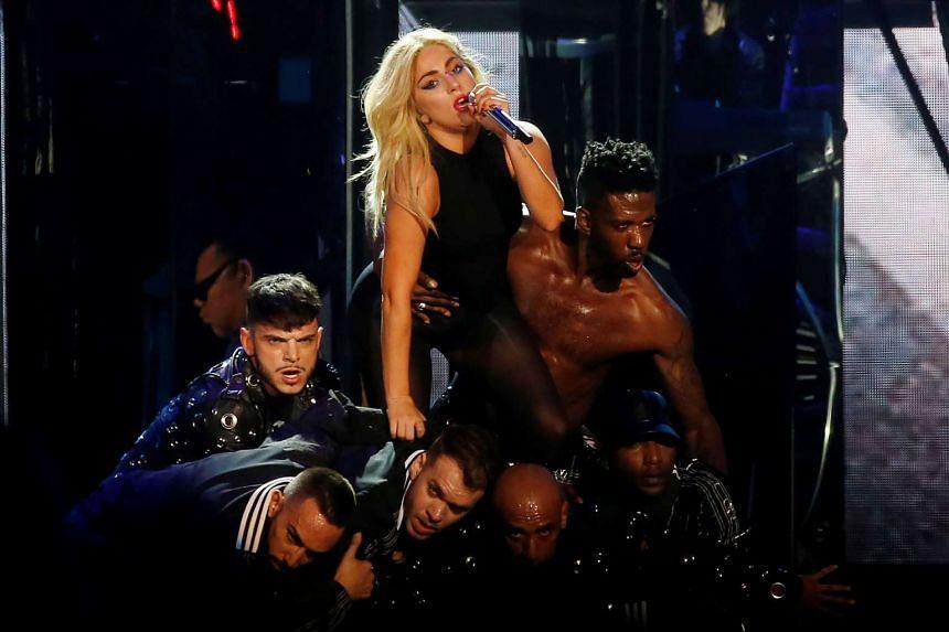 Pop star Lady Gaga headlining the Coachella music festival.