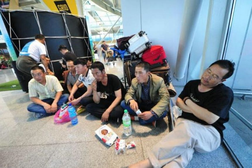 Farmers from China are stranded at the Senai International Airport after promised fake jobs in Johor.