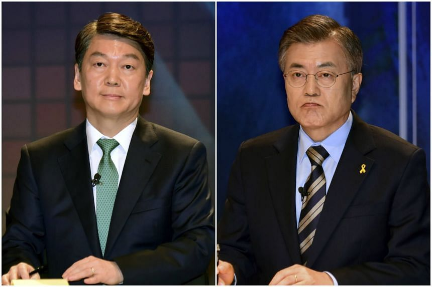 Ahn has proposed a one-on-one debate with Moon, who has not yet accepted the notion.