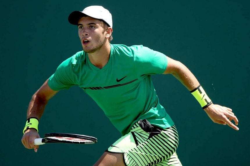 Borna Coric (pictured) defeated Philipp Kohlschreiber to win the Grand Prix Hassan II in Marrakech, Morocco, on April 16, 2017.
