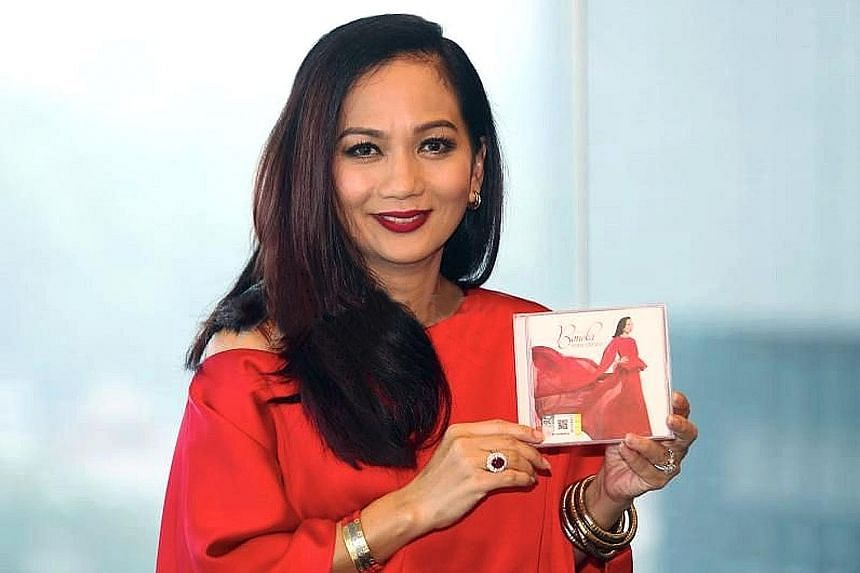 Sheila Majid with her new album, Boneka. She took three years to source the right songs.