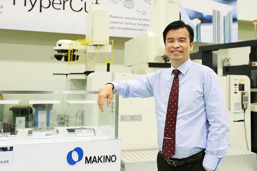 """Mr Neo Eng Chong of Makino Asia said that the machine tool industry risks losing out if it continues being conservative. Makino Asia is aiming to boost productivity, quality and capacity with its new """"smart factory"""" here."""