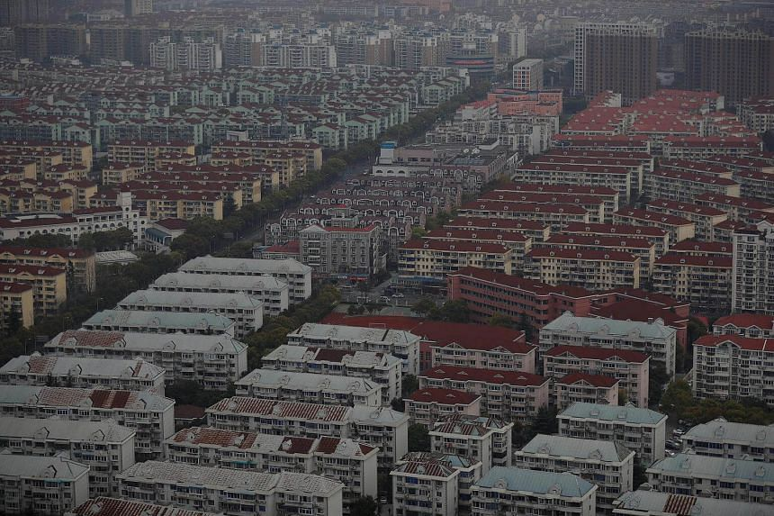 A view of a residential area of Pudong district in Shanghai, China, on April 4, 2017.