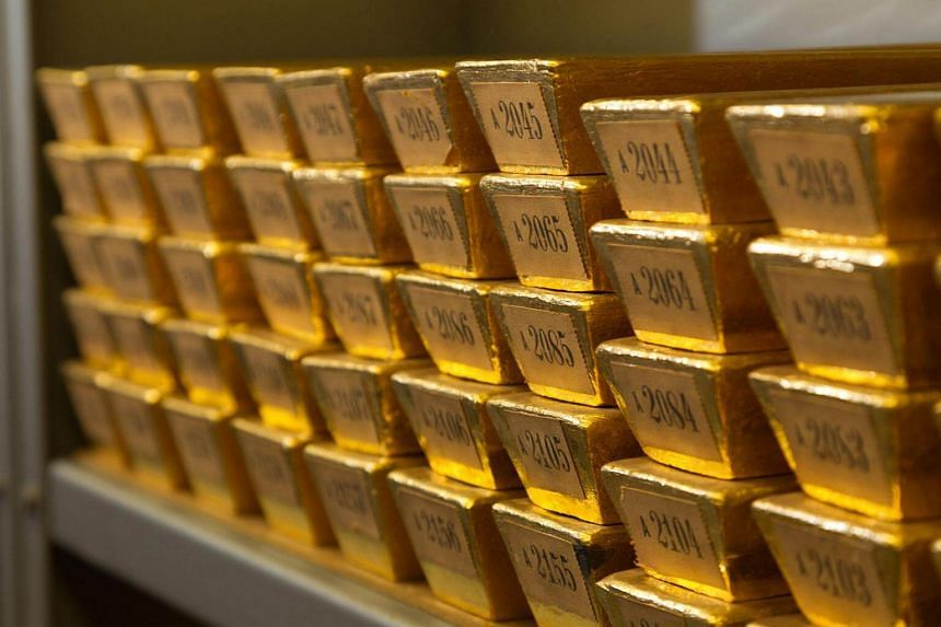 Gold prices hit a five-month high on Monday (April 17) as the US dollar weakened.