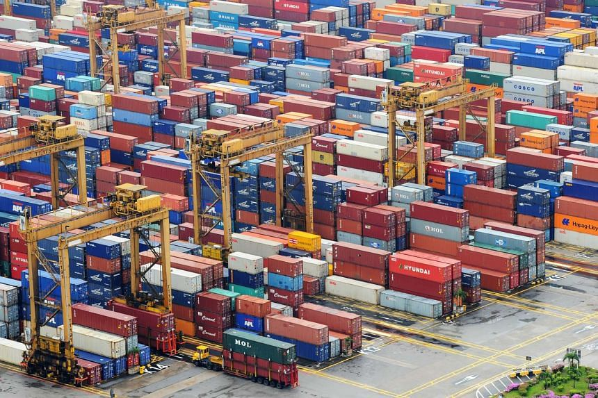 Containers at Tanjong Pagar Terminal of PSA International.
