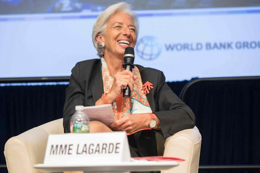 International Monetary Fund Managing Director Christine Lagarde speaks at the Parliamentary Town Hall during the IMF/World Bank Spring Meetings at the World Bank on April 17, 2017 in Washington, DC.