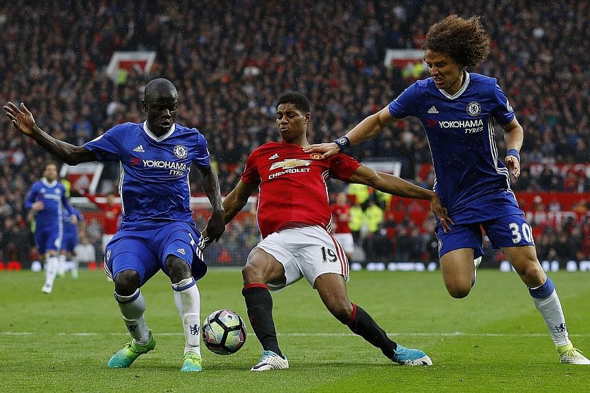 Manchester United forward Marcus Rashford tormenting the Chelsea backline as the Reds ran out worthy winners. With only six games left and a four-point lead, there's all to play for.