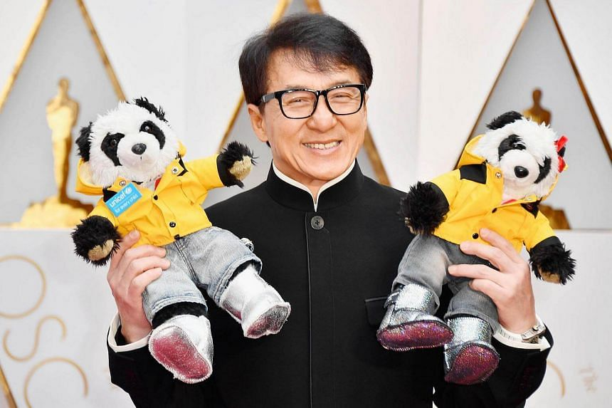 Actor Jackie Chan attending the 89th Annual Academy Awards at Hollywood & Highland Center in Hollywood, California, on Feb 26, 2017.