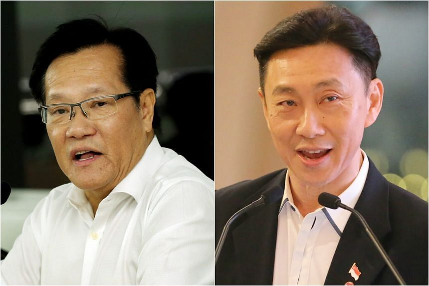 Team LKT, led by Mr Lim Kia Tong (left) and Team Game Changers, led by Mr Bill Ng (right) have both been cleared to contest the FAS elections.