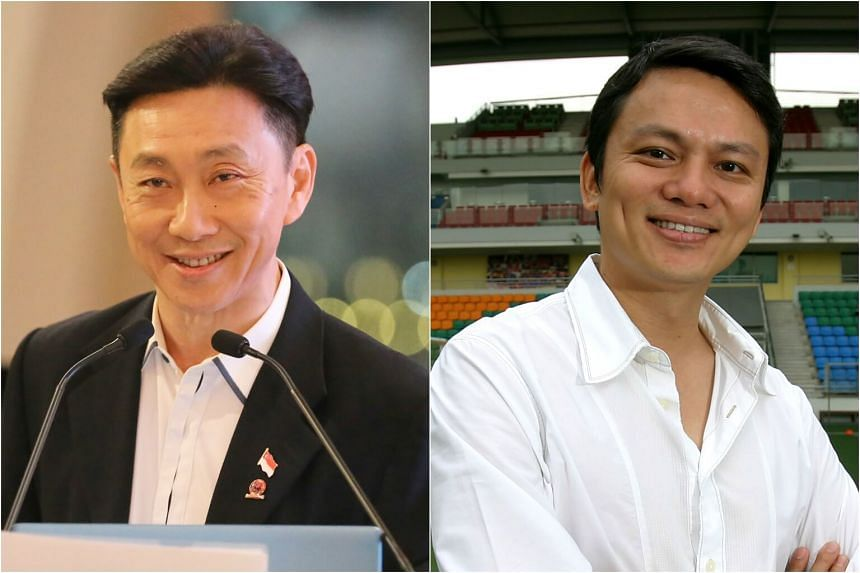 Football Association of Singapore general secretary Winston Lee (right) said that Tiong Bahru FC chairman Bill Ng instructed for the full S$500,000 donation to go to the Asean Football Federation based on recent evidence.