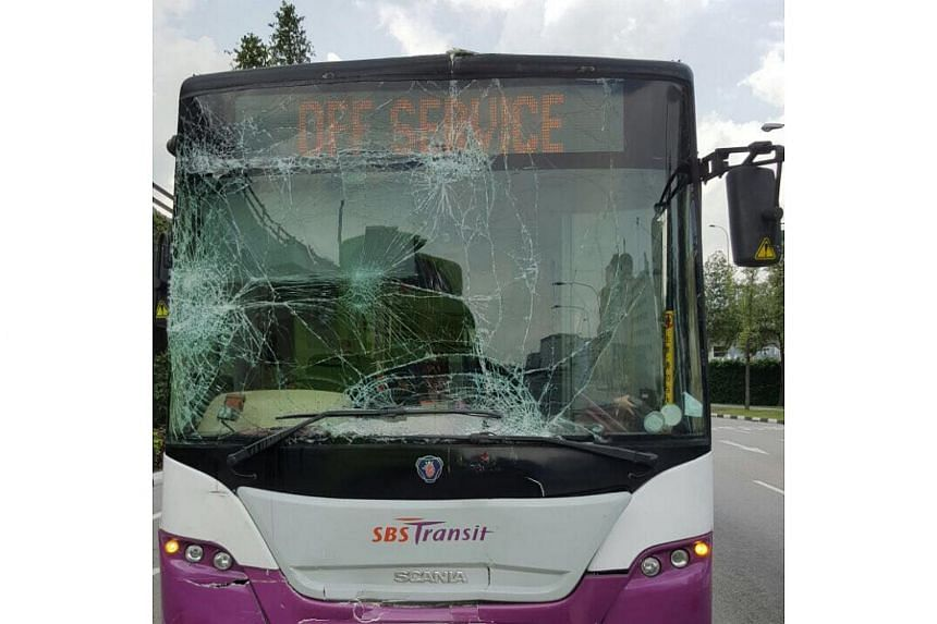 Two SBS buses were involved in an accident on April 18, 2017, after a single-decker bus hit a double-decker bus in the Harbourfront area.