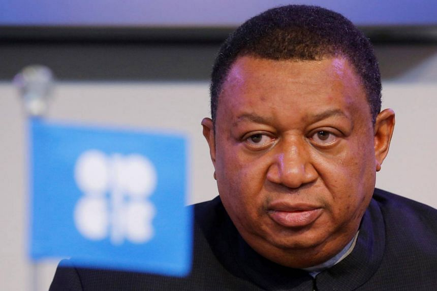 Opec secretary-general Mohammad Barkindo says Opec and other major producers are committed to reducing oil stockpiles.