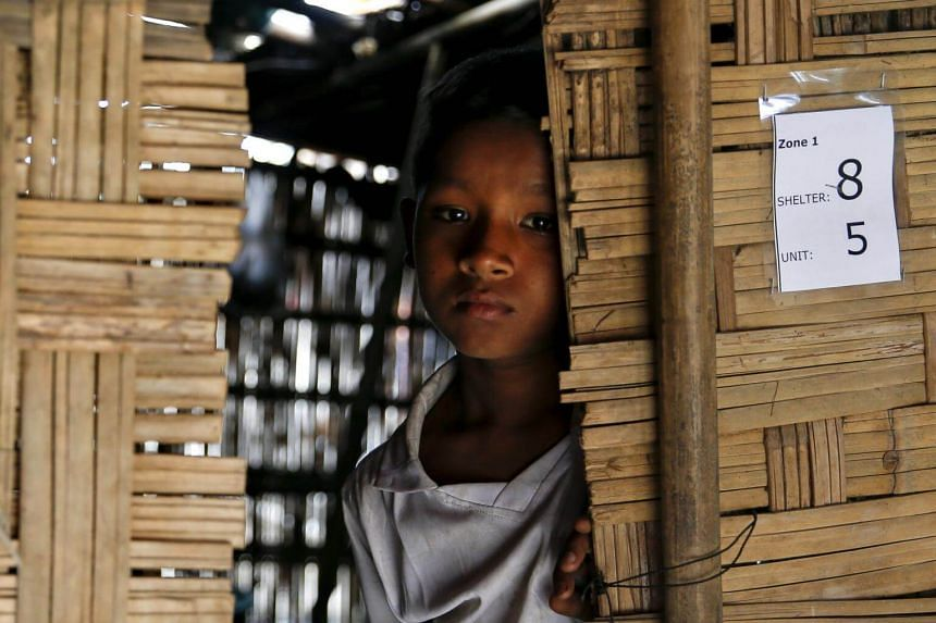 Violence in Myanmar's Rakhine state resulted in thousands of people, such as this 10-year-old boy, Nabeel Hyseub, seeking shelter.