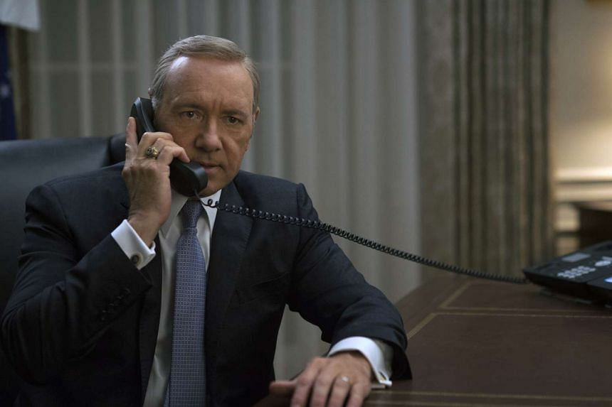 Kevin Spacey in a TV still from House Of Cards.