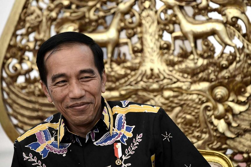 Indonesian President Joko Widodo during an exclusive interview with AFP at the Merdeka Palace in Jakarta.