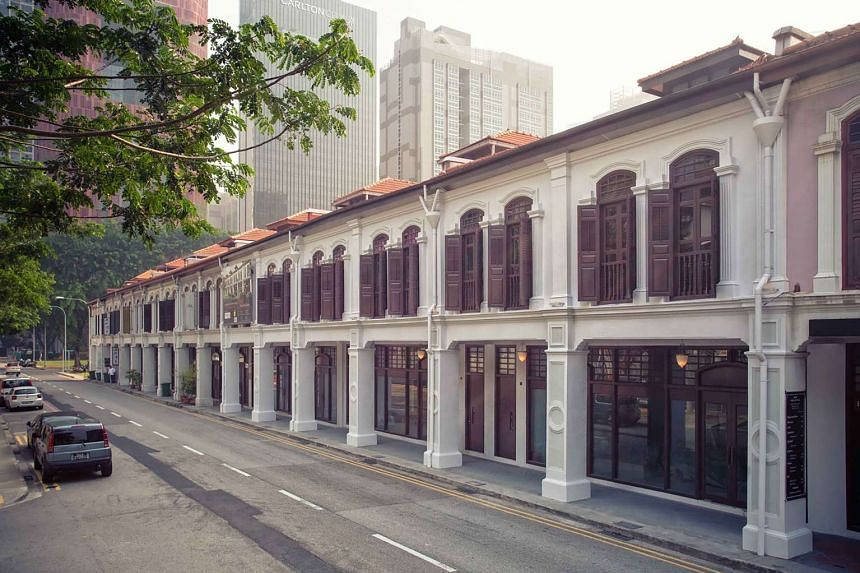The shophouses, which are owned by a private equity fund, have a 33m wide main road frontage and are near the Tanjong Pagar MRT station.