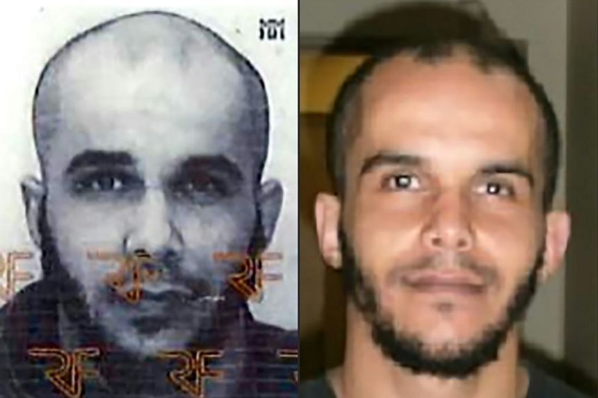 A combined police photo shows Mahiedine M, who was arrested in Marseille on suspicion of preparing an attack just days ahead of the first round of France's presidential vote.