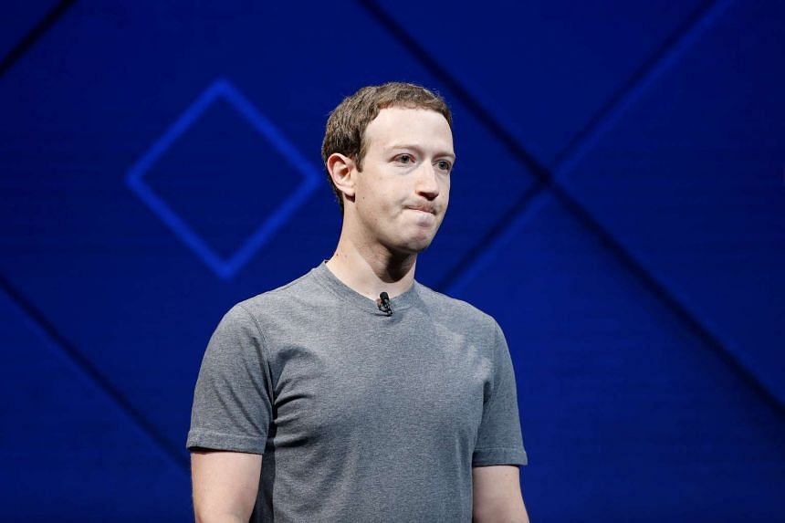 Zuckerberg speaks on stage during the annual Facebook F8 developers conference in San Jose.