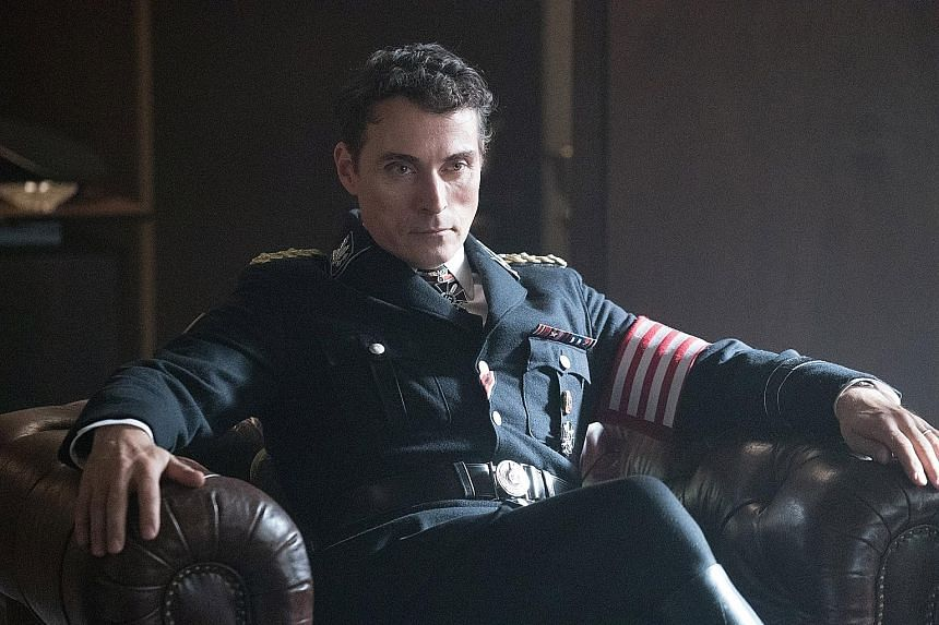 Rufus Sewell (above) in The Man In The High Castle as a senior Nazi leader investigating the Resistance in New York.
